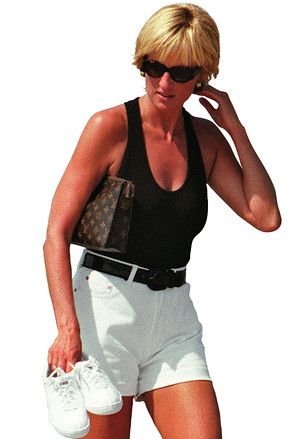 Princess Di with LV toiletry pouch