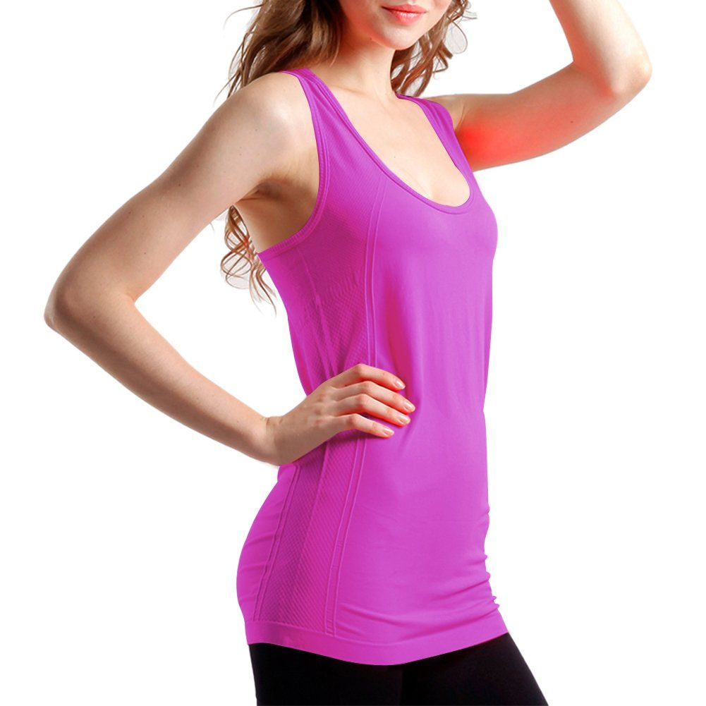 Ecavus Womens Maternity Tank Tops Seamless Racerback Sleeveless Workout Athletic Yoga Tops Pregnancy Shirt