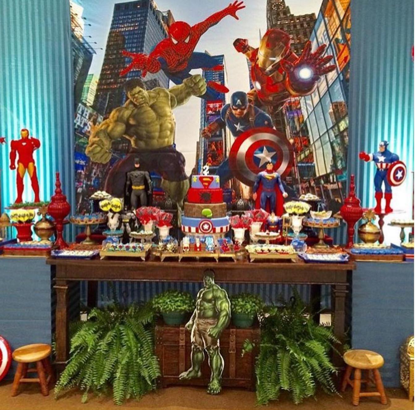 Resultado de imagen para fiesta tematica de avengers