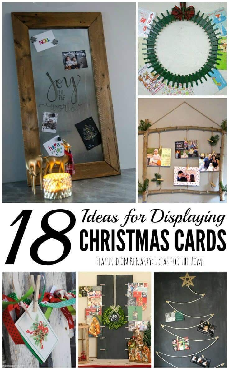 Displaying Christmas Cards: 18 Fun and Unique Ideas | Christmas ...