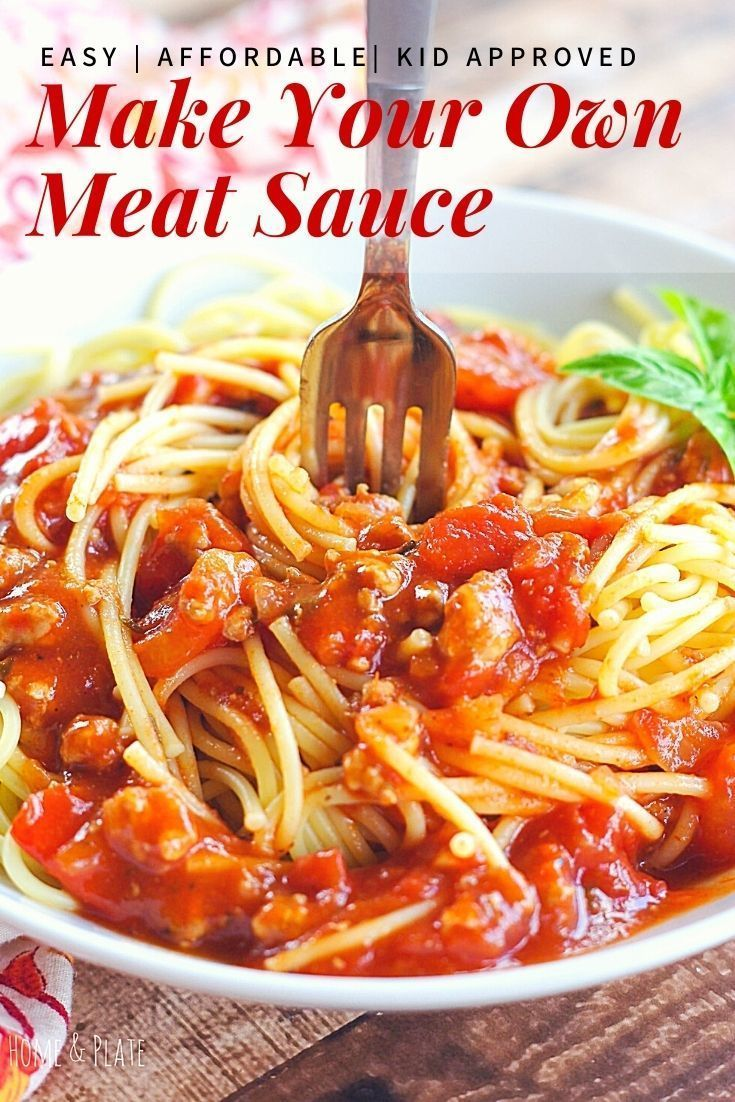 Easy Homemade Meat Sauce Recipe Home And Plate Recipe In 2020 Easy Pasta Recipes Homemade Pasta Recipe Homemade Meat Sauce