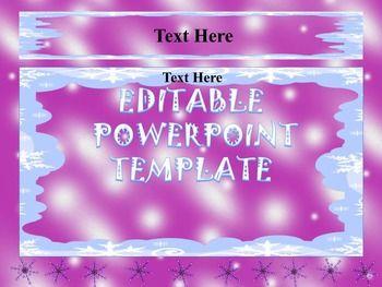 Winter  Editable Powerpoint Templates  Fun Math Power Point
