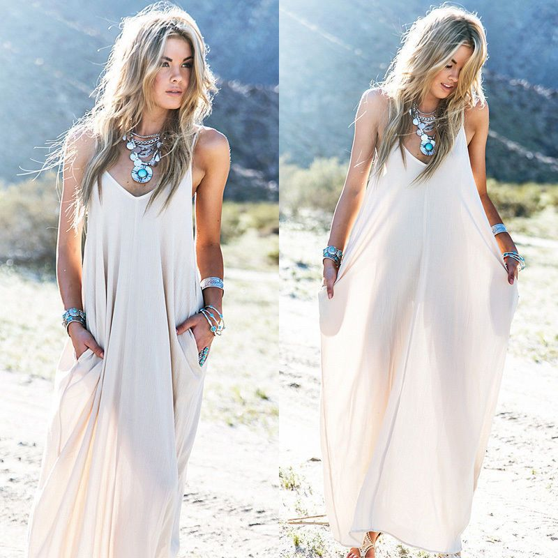 82a93396c59 Sexy Women Summer Boho Long Maxi Evening Party Dress Beach Dresses Sundress   Unbranded  Maxi  Casual