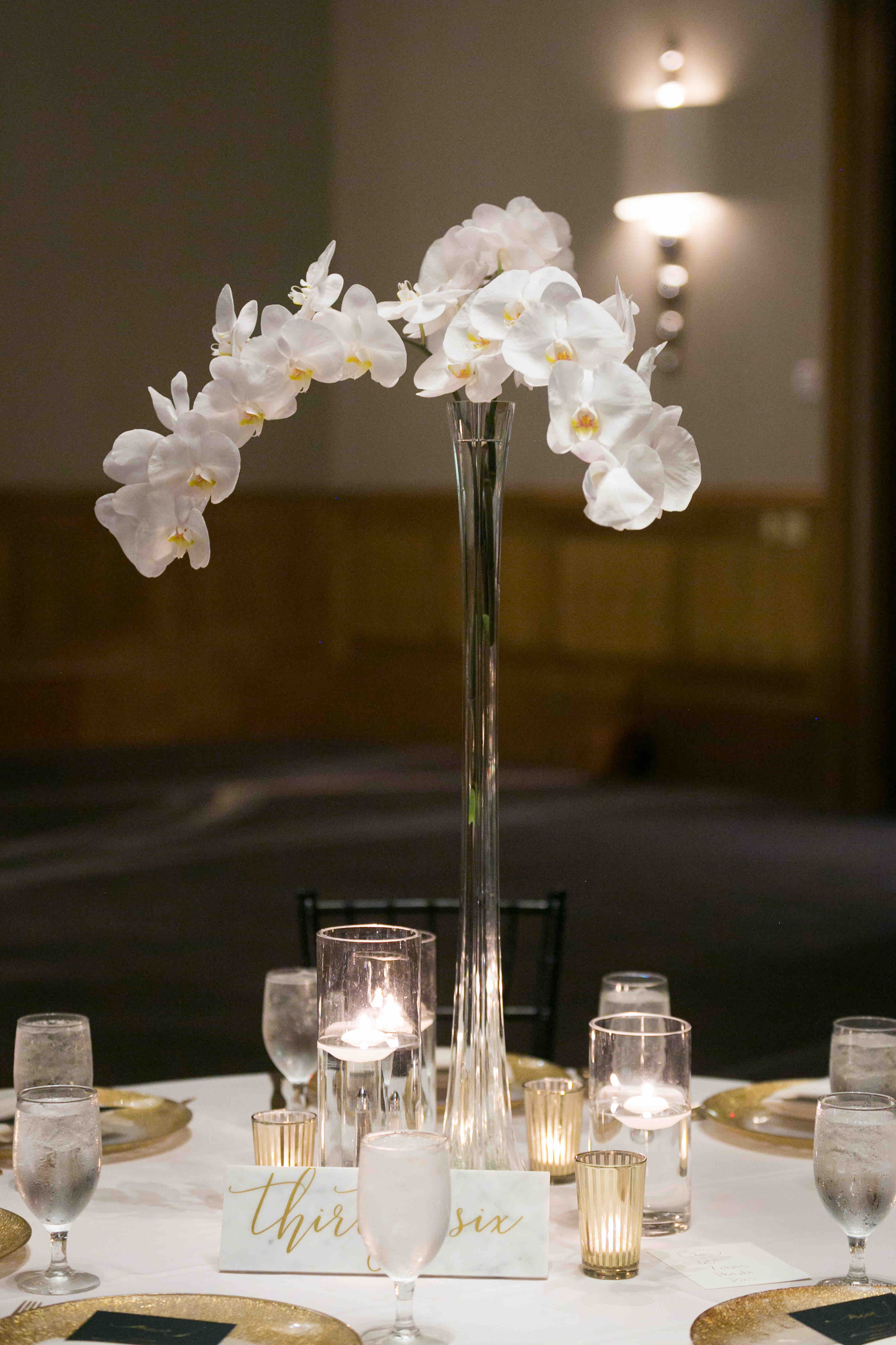 White Orchid Centerpiece in 2020 White orchid