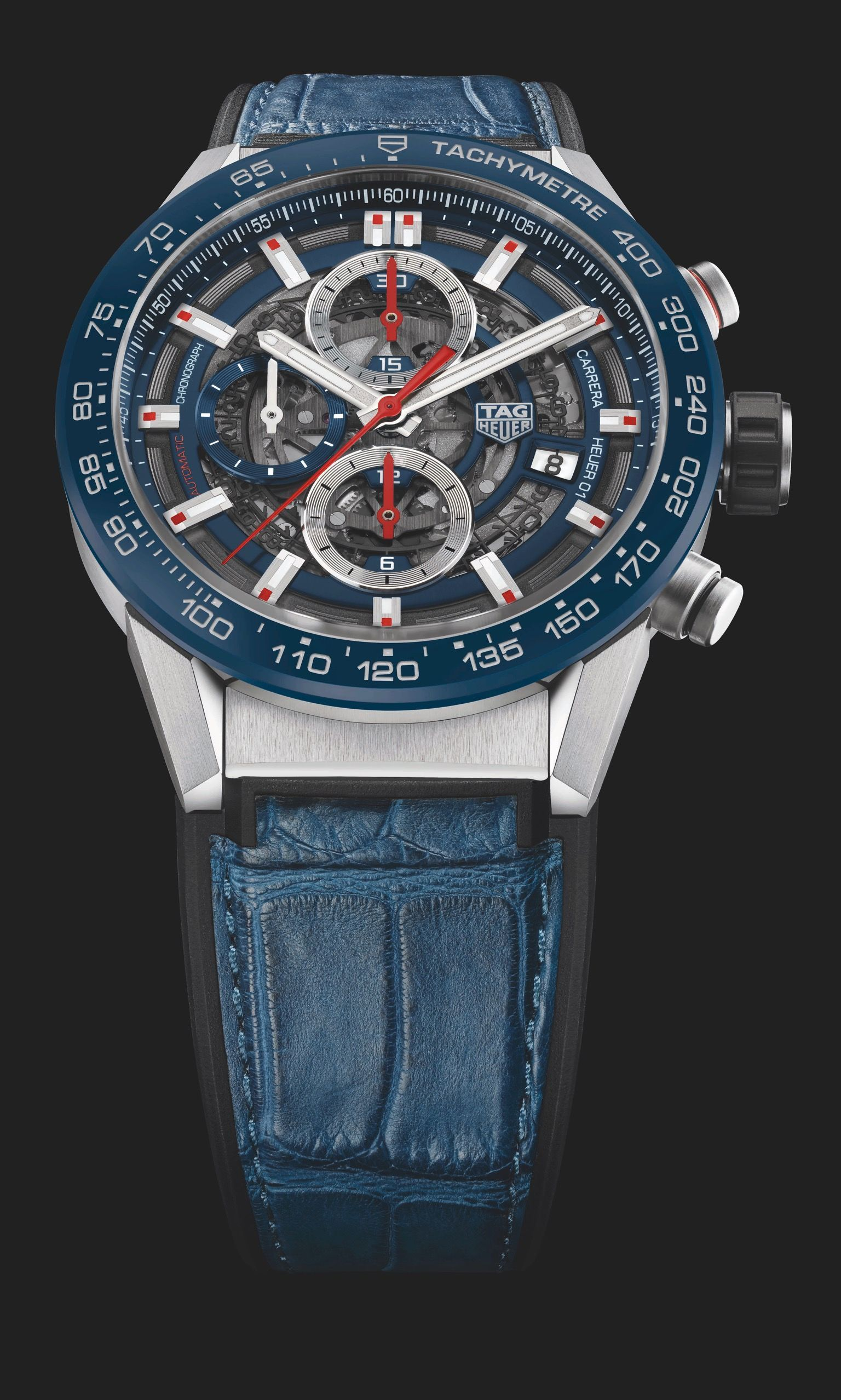 3512dfa536a TAG Heuer Carrera Heuer-01 43mm Skeleton CAR201T- Navy Blue Dial ...