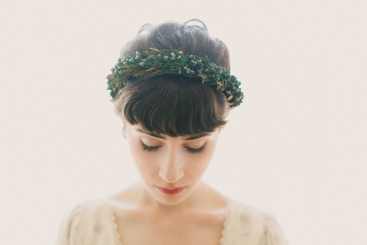 Juniper and cedar hair crown Natural leaf boho by whichgoose   Wish ...