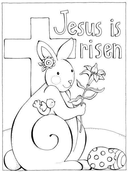 easter coloring page He is Risen/Easter PreK Theme