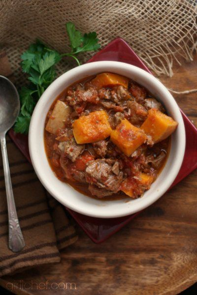 Lamb and Butternut Squash Stew {12 Weeks of Winter Squash} @FoodBlogs