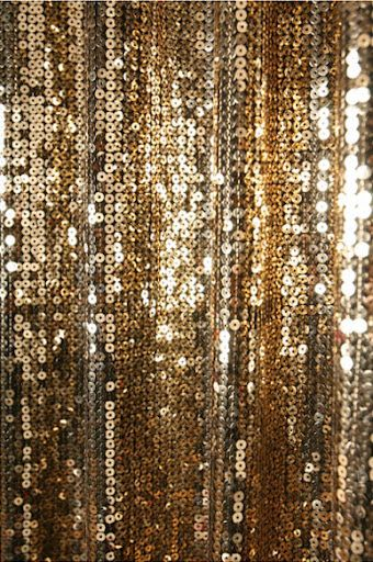 Gold Sequins Beaded Curtain Drapery Panel Room Divider