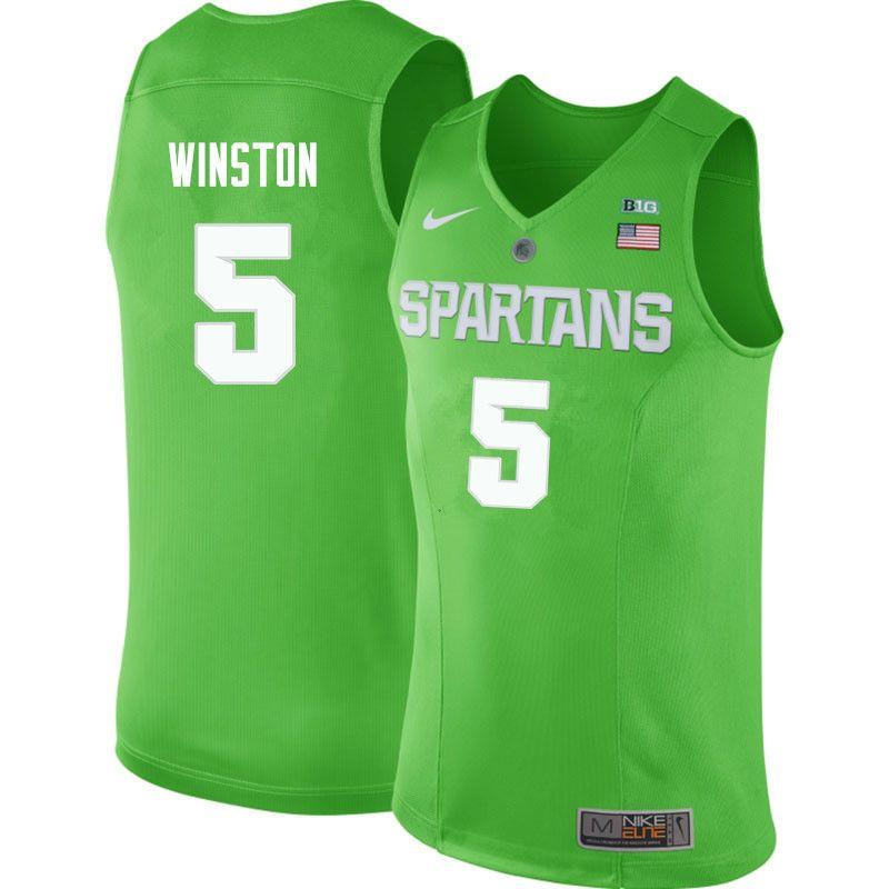 Men  5 Cassius Winston Michigan State Spartans College Basketball Jerseys  Sale-Apple Green c7fa2b788