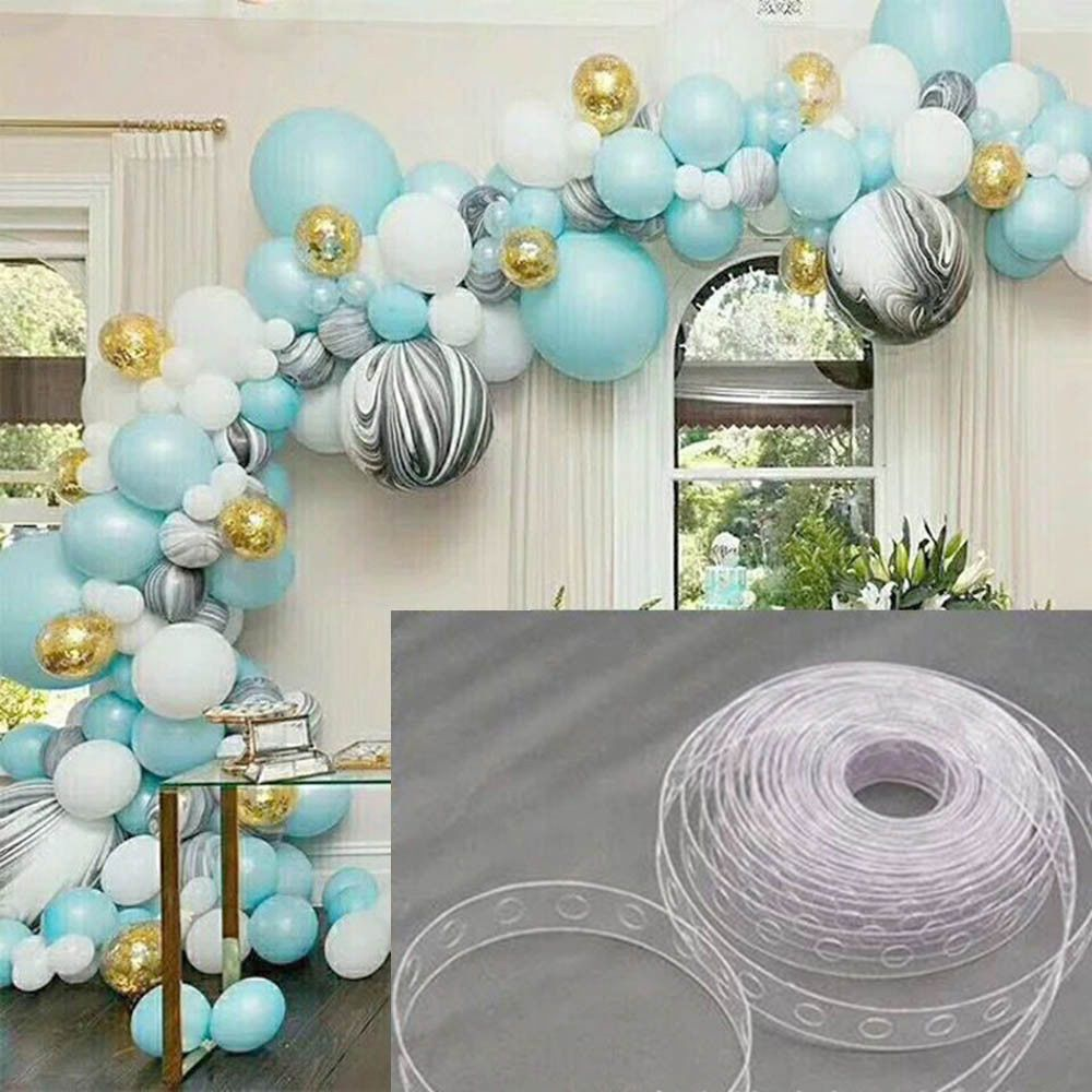how to do a balloon arch with tape