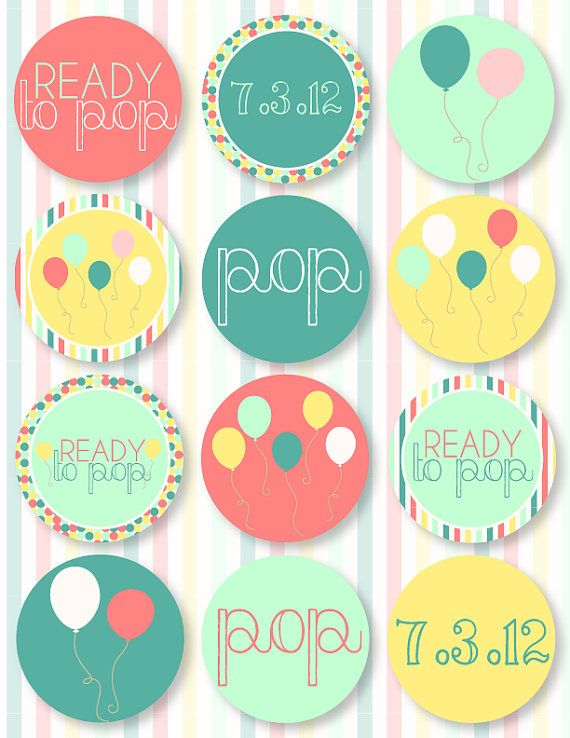 Ready To Pop Baby Shower Printables