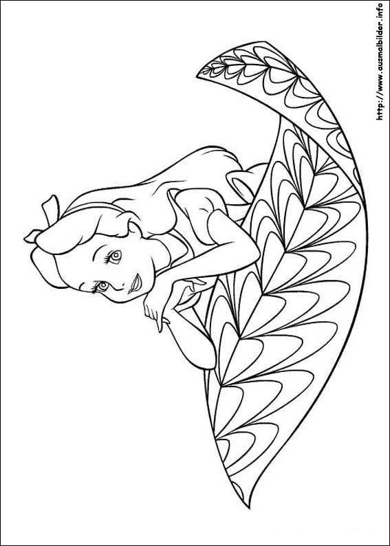 Alice im Wunderland malvorlagen | Coloring Pages, Ausmalbilder ...