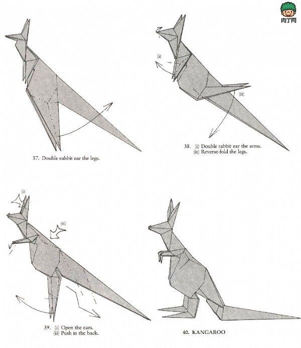 kangaroo origami 3 cute pinterest origami kangaroos