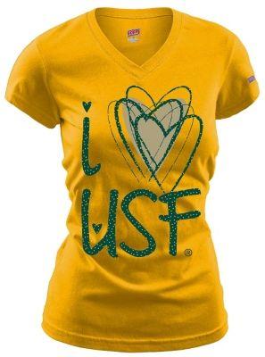 I Love Heart Wallabies V-Neck T-Shirt