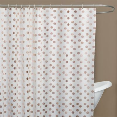 Dazzle Shower Curtain In Rose Gold Bed Bath Beyond Rose
