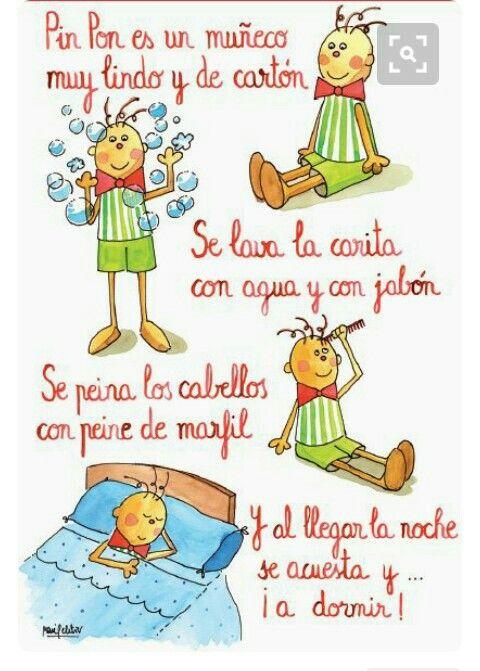 Pin Pon Lyrics : lyrics, Canço, Infantil,, Muñeco, Preschool, Songs,, Learning, Spanish, Kids,