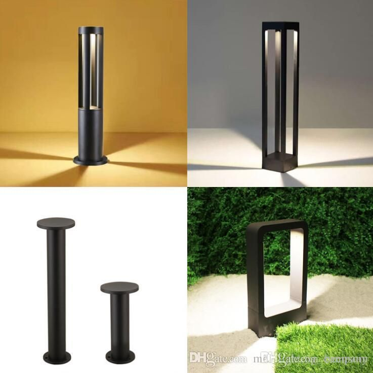 Outdoor Wall Gate Garden Park Lawn Light Lamp Ac11 240v Led Post Bollard Light Lamp Big Square Outdoor Lantern Wat Led Post Lights Lawn Lights Bollard Lighting