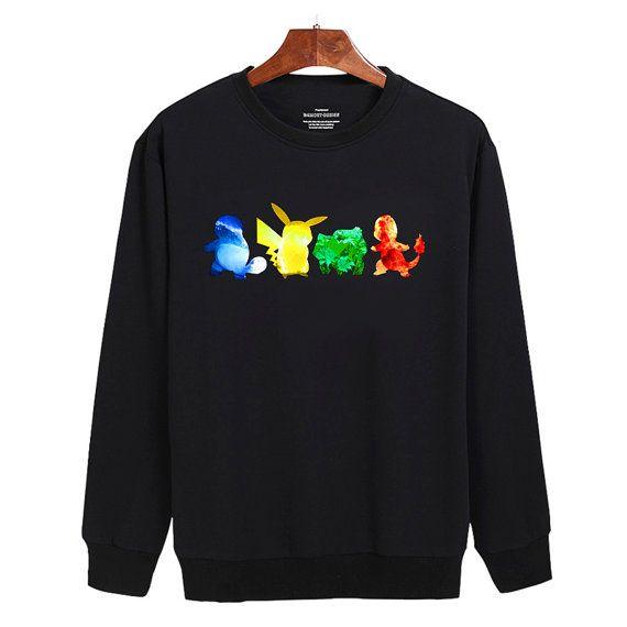 Pokemon Water Electricity Earth Fire Sweater by mengeluhh on Etsy