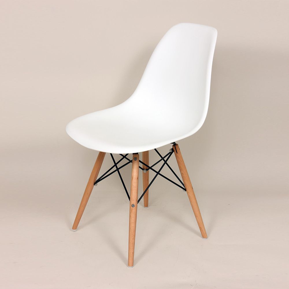 Mid-Century Slope Chair - White   dotandbo.com