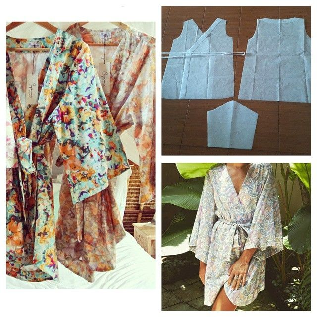 Kimono robe bath pattern. Order via line : @modelliste (with ...