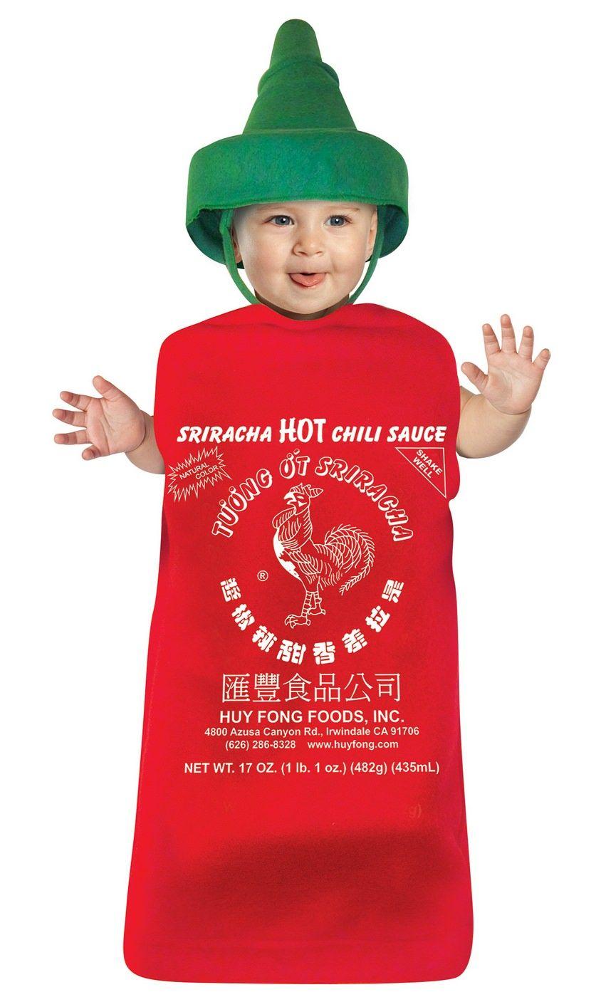 sriracha hot chili sauce baby bunting costume | baby costumes canada