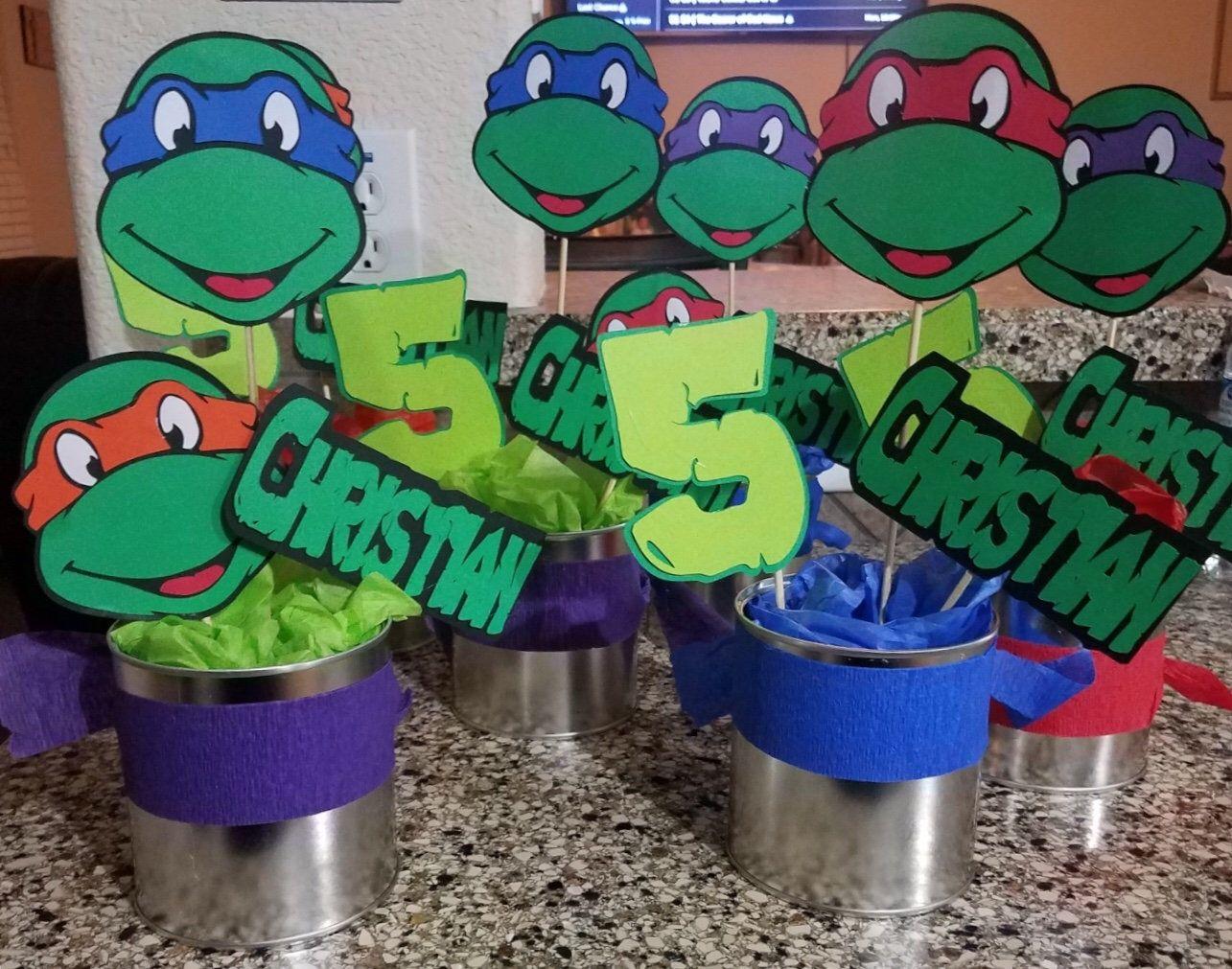 Tmnt Party 12 Piece Set Tmnt Centerpiece Teenage Mutant Ninja Etsy Mutant Ninja Turtles Party Ninja Turtles Birthday Party Teenage Mutant Ninja Turtles Party