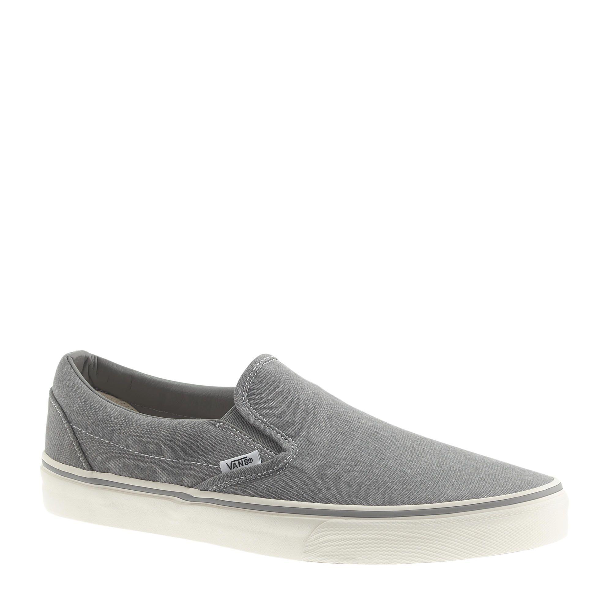 6ea902326f2 Vans Washed Canvas Classic Slip-On Sneakers in Silver for Men (nickel)
