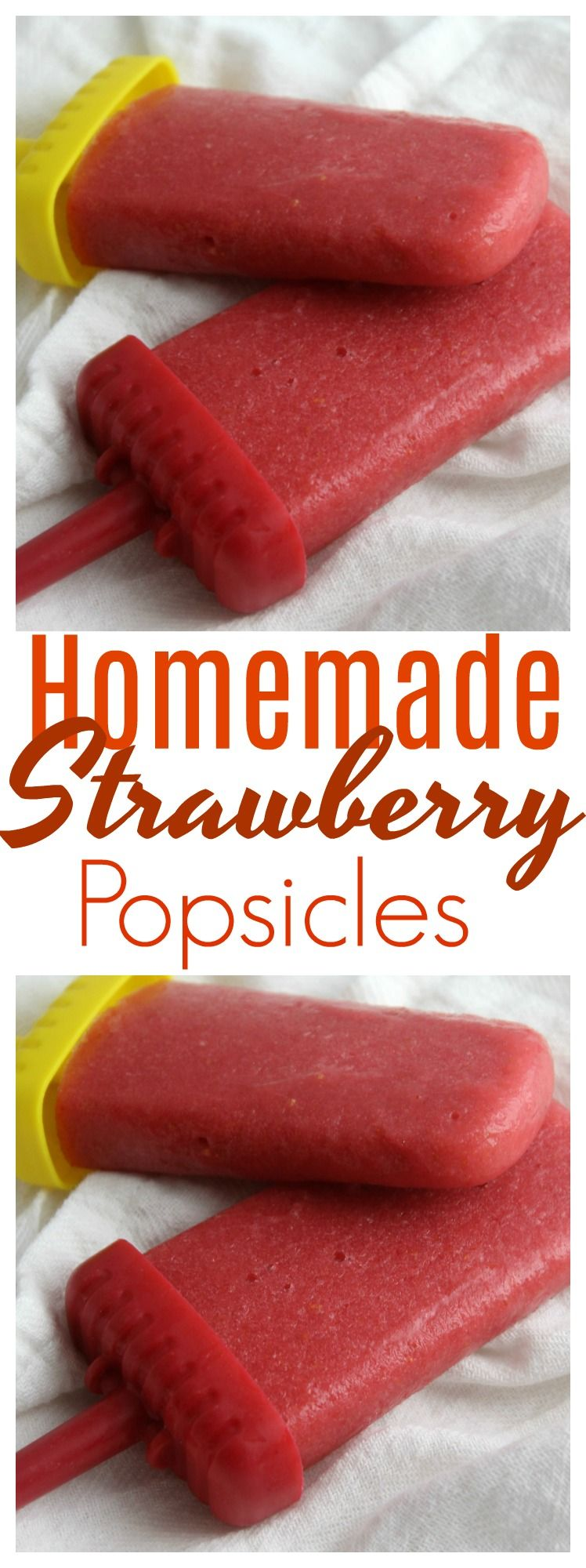 Looking for a healthier alternative to store bought popsicles? These homemade strawberry popsicles are easy and simple and made with fresh strawberries and raw honey. #homemadepopsicleshealthy