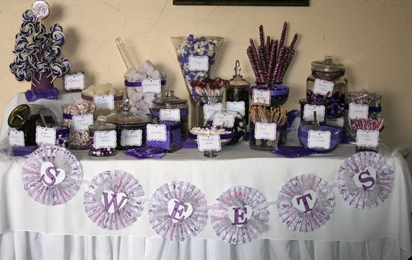 Purple Candy Buffet Table How To Set The Wedding