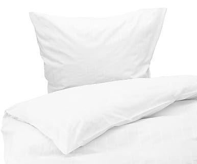 Satin-Bettwäsche Ajour, weiß-gestreift
