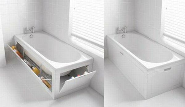 20 Ideen für kleines Bad Design – Platzsparende Badewanne ...