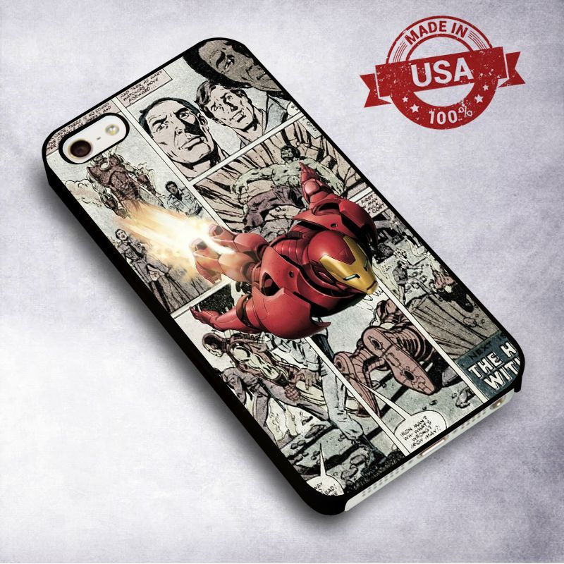 AwesomeIron Man Comic Strip - For iPhone 4/ 4S/ 5/ 5S/ 5SE/ 5C/ 6/ 6S/ 6 PLUS/ 6S PLUS/ 7/ 7 PLUS Case And Samsung Galaxy Case