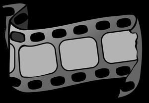 PublicDomainVectors org-Vector graphics of piece of movie