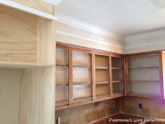repaint kitchen cabinets smoothing and adding molding to soffit to blend with 25387