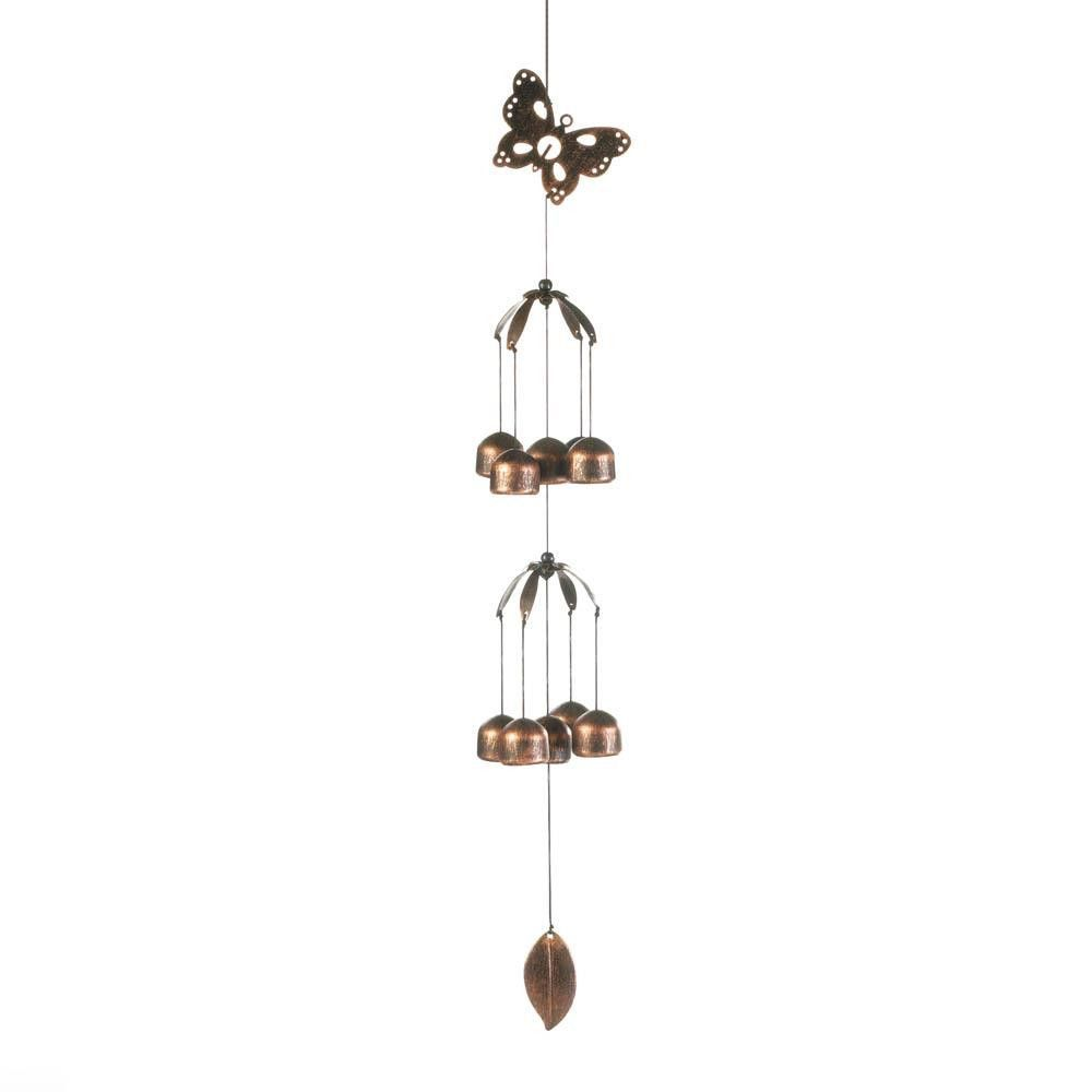Butterfly double tier wind chimes products butterfly double tier wind chimes buycottarizona Choice Image