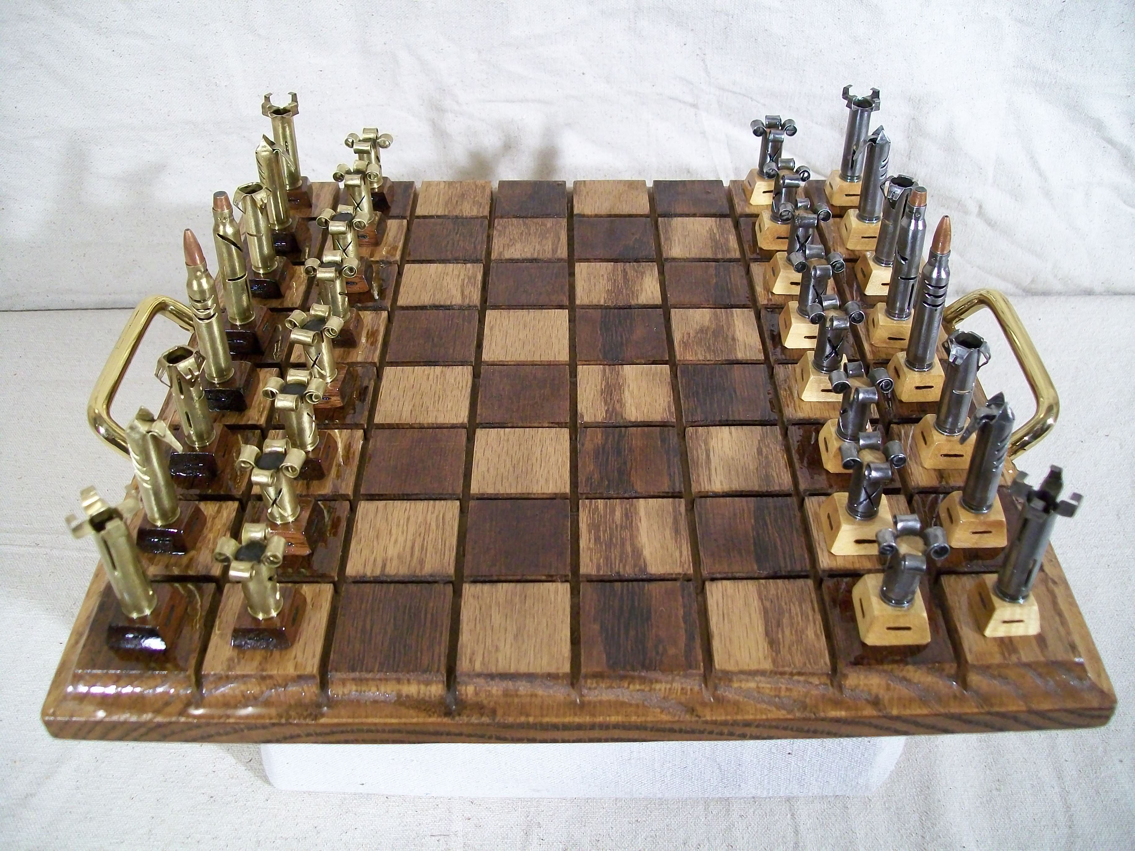 Get An Old Chessboard Or Build One Into A Table That Can