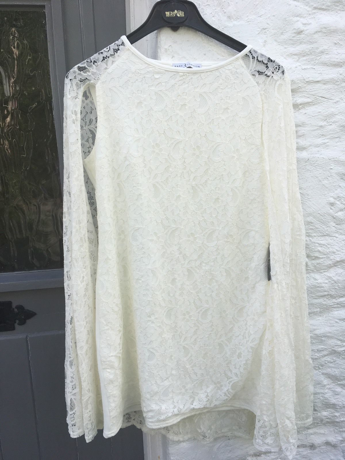 Lace dress with cape  Awesome Great Rare London Topshop Off White Lace Cape Wedding Party