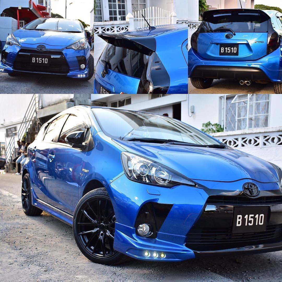 Trd Bodykit Fitted On Toyota Aqua With Alloy Wheels 17 Toyota