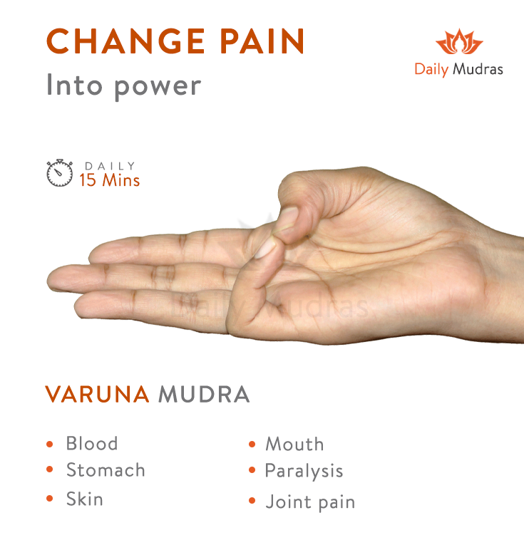 You can practice this Mudra for many ailments dailymudras