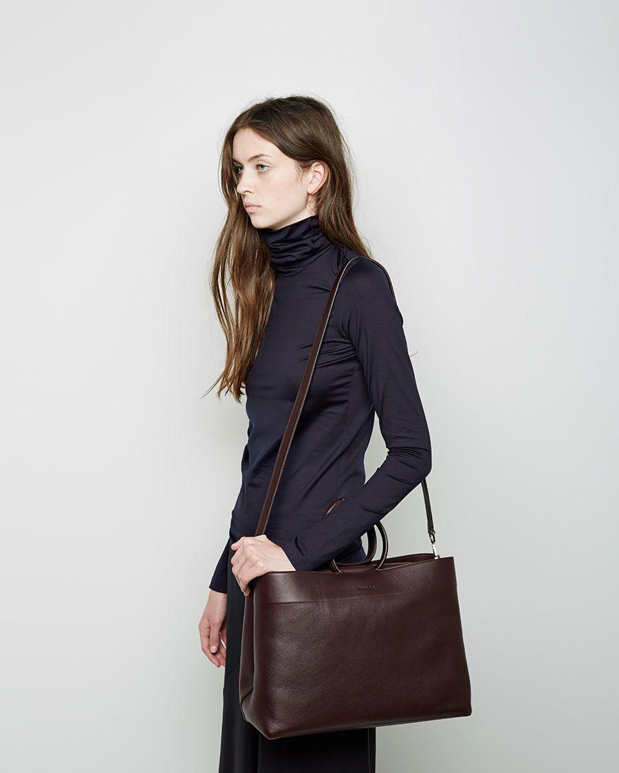 JIL SANDER | Leather Twist Tote | Shop at La Garçonne