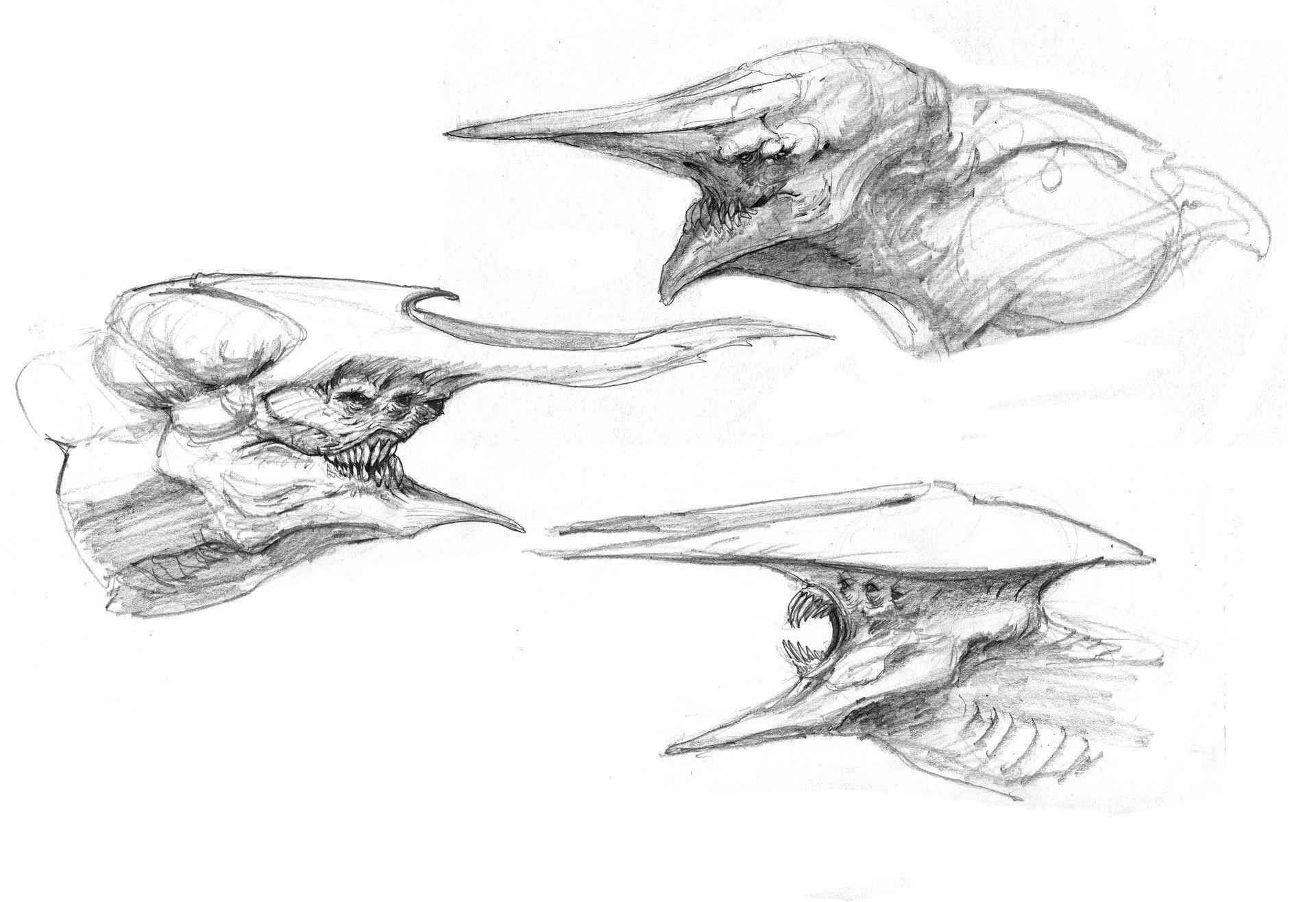 ArtStation - Monster sketches, Nick De Spain