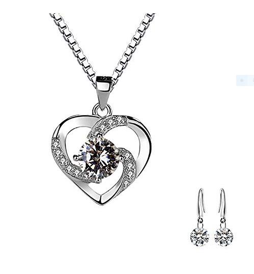 Corazón pendientes 925 real plata aretes idea de regalo niños top idea de regalo