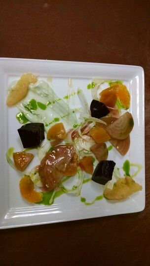 poach beet and fennel salad