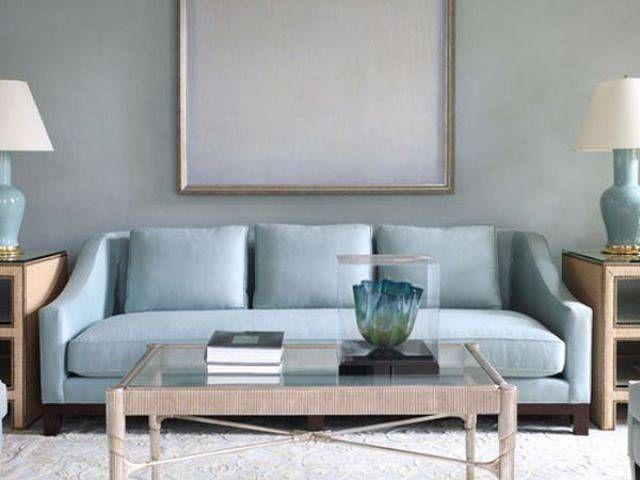 Pale Blue Sofa
