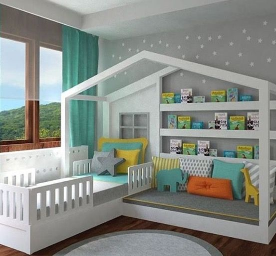 Pretty Cool Toddler Bed Reading Nook Combo For A Kids Room The