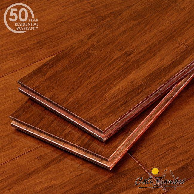 Cherry Red Bamboo Hardwood Flooring Sample