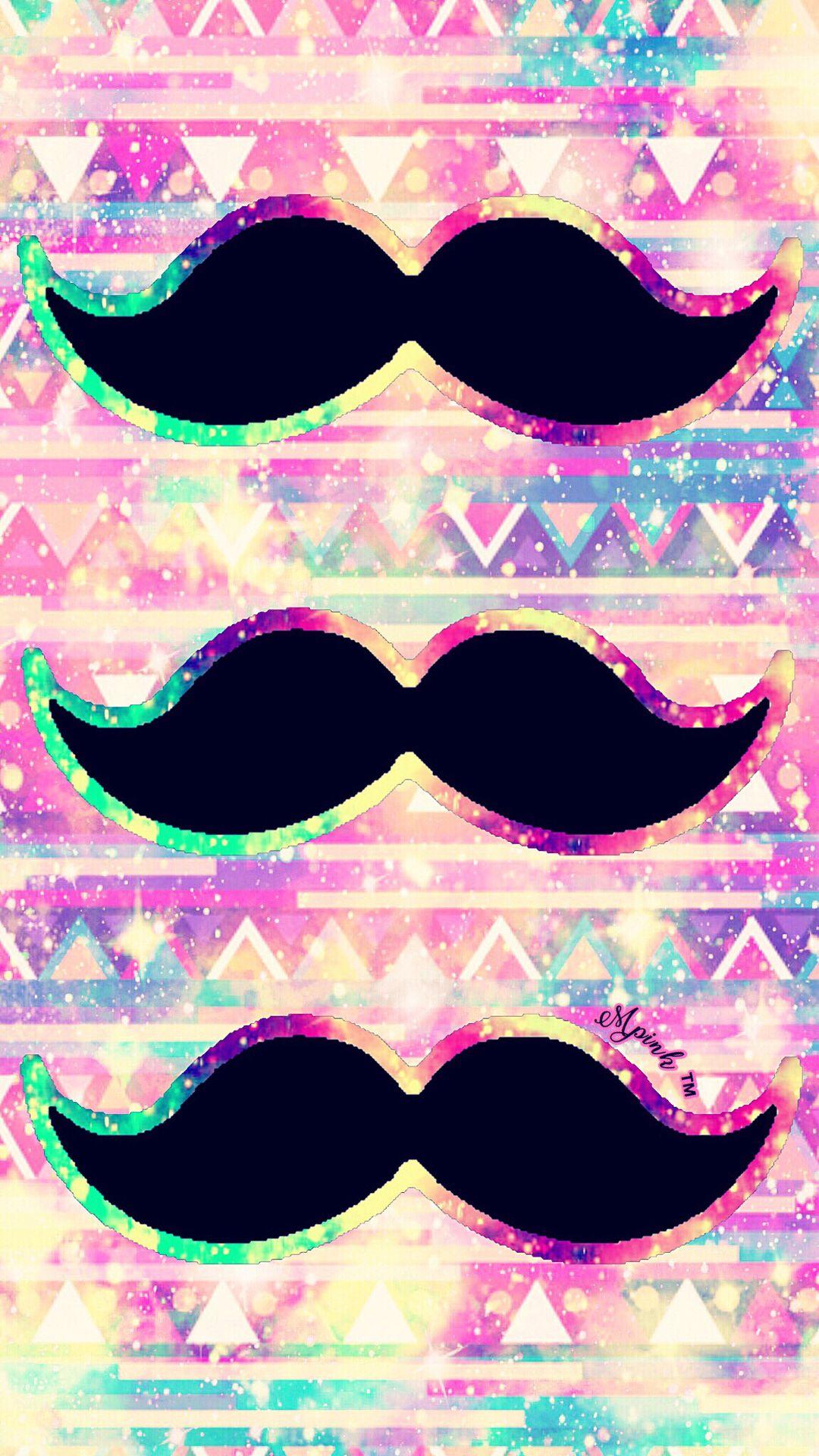 Triple Mustache Galaxy Wallpaper Androidwallpaper Iphonewallpaper Sparkle Glitter