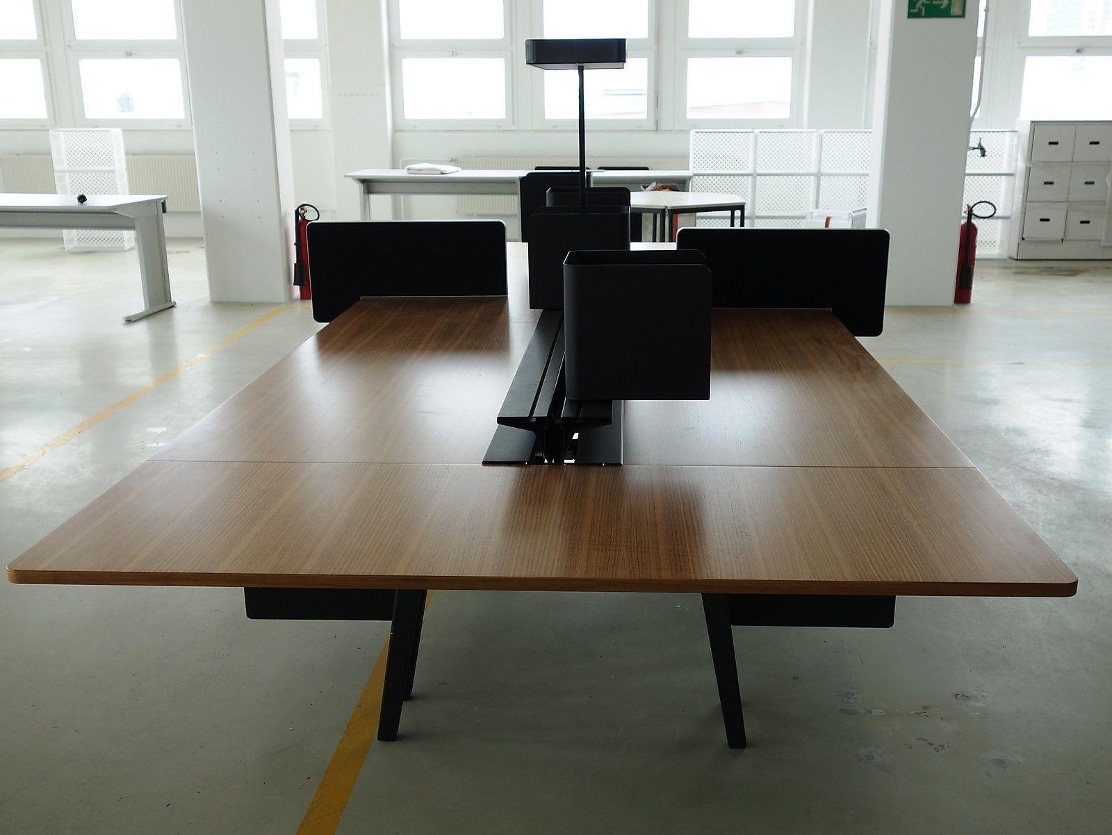 VITRA JOYN Plattform Schreibtisch 440x180cm komplett für 4 ...