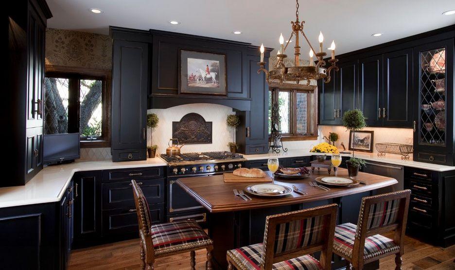 Resultado de imagen para black kitchen | Ideas para la cocina ...